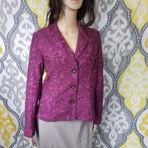 Cabi Lace Plumberry Blazer Jacket sz 6